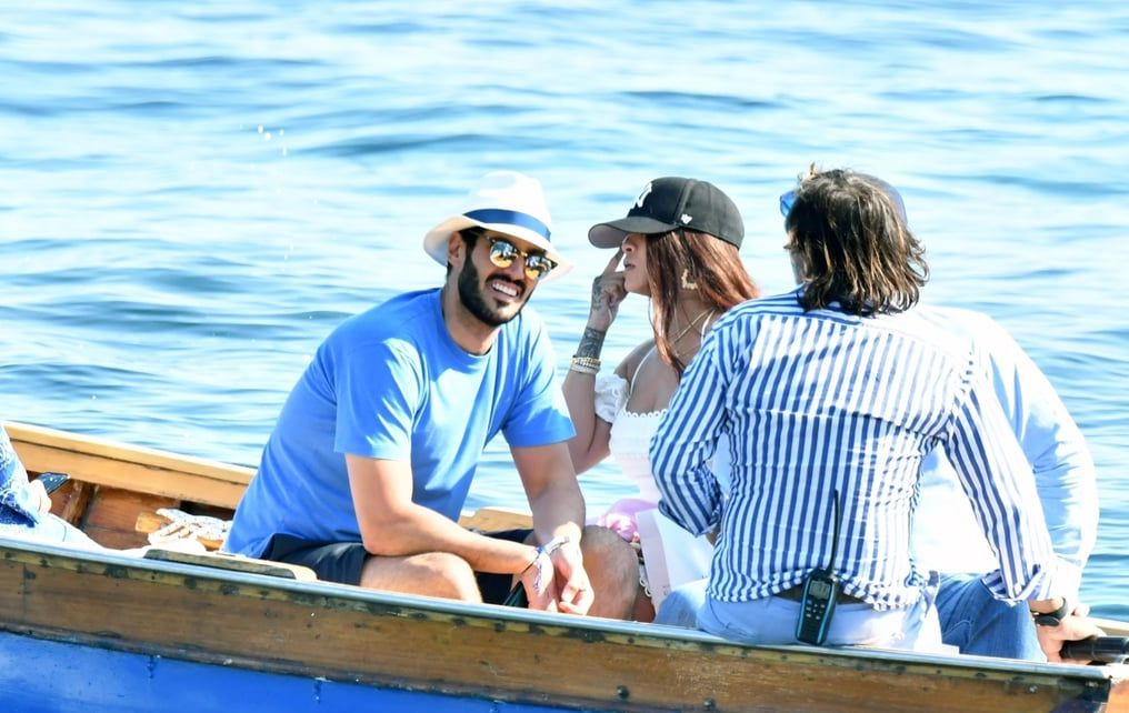 Rihanna and Hassan Jameel in Italy
